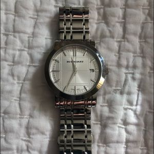 Authentic Men's Burberry Stainless steel watch.